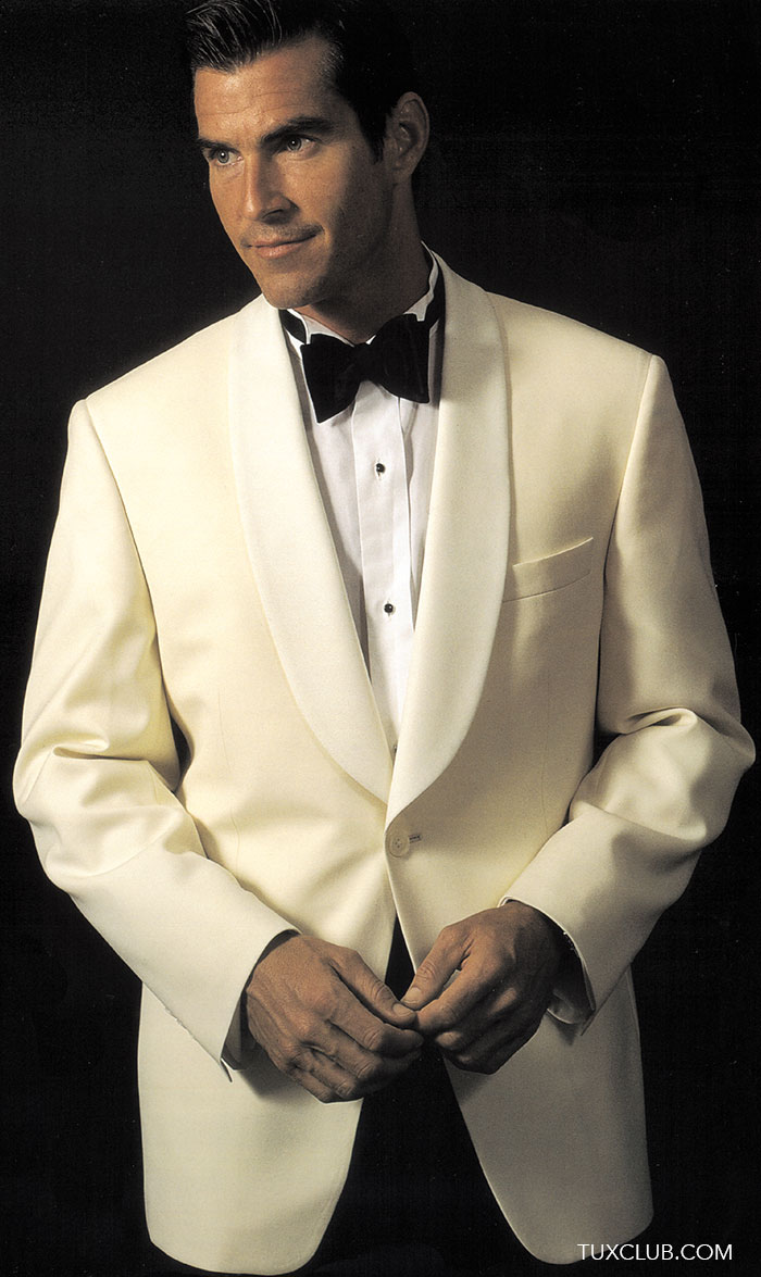 Ivory Shawl Collar Tuxedo Dinner Jacket Only