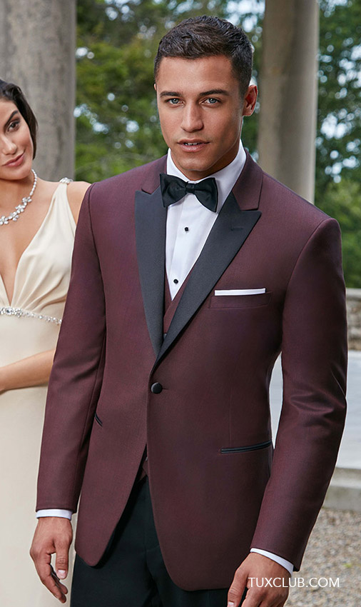 Burgundy Tuxedo Coat Only