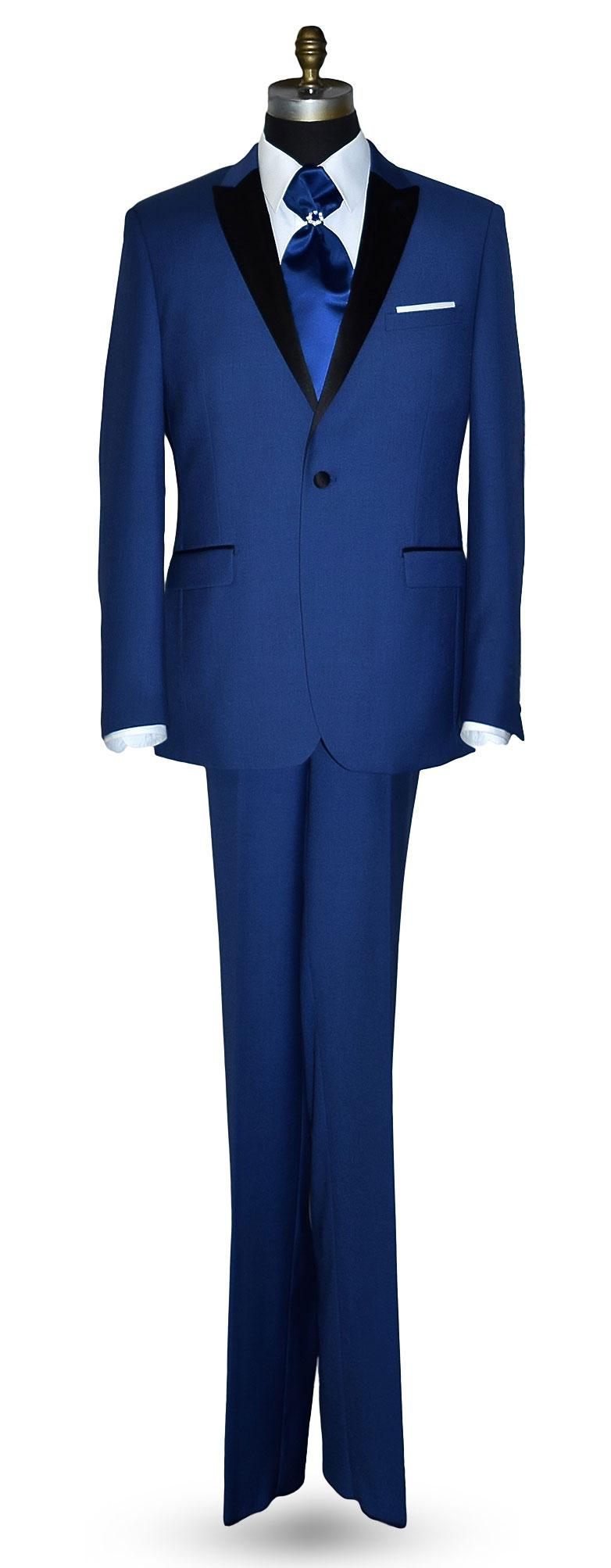 New Blue Tuxedo Coat and Pants Set Only