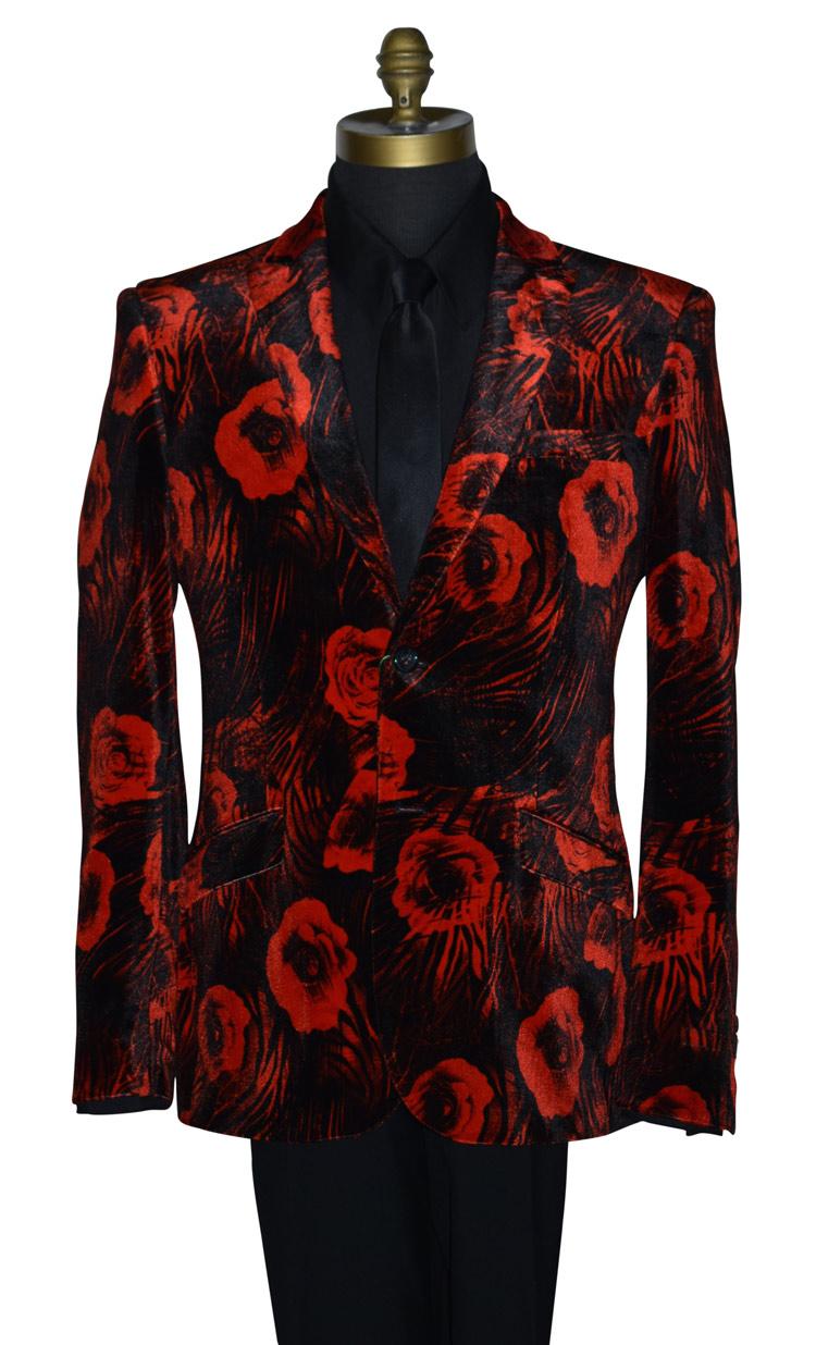 Velvet Red Tuxedo Coat Only