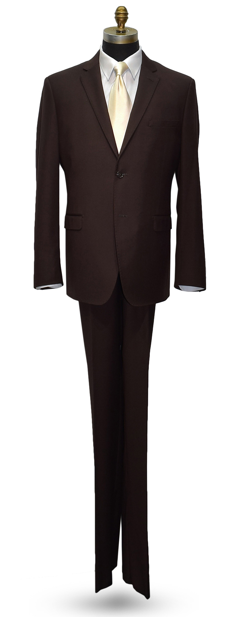 CHOCOLATE BROWN MENS SUIT - COAT AND PANTS SET