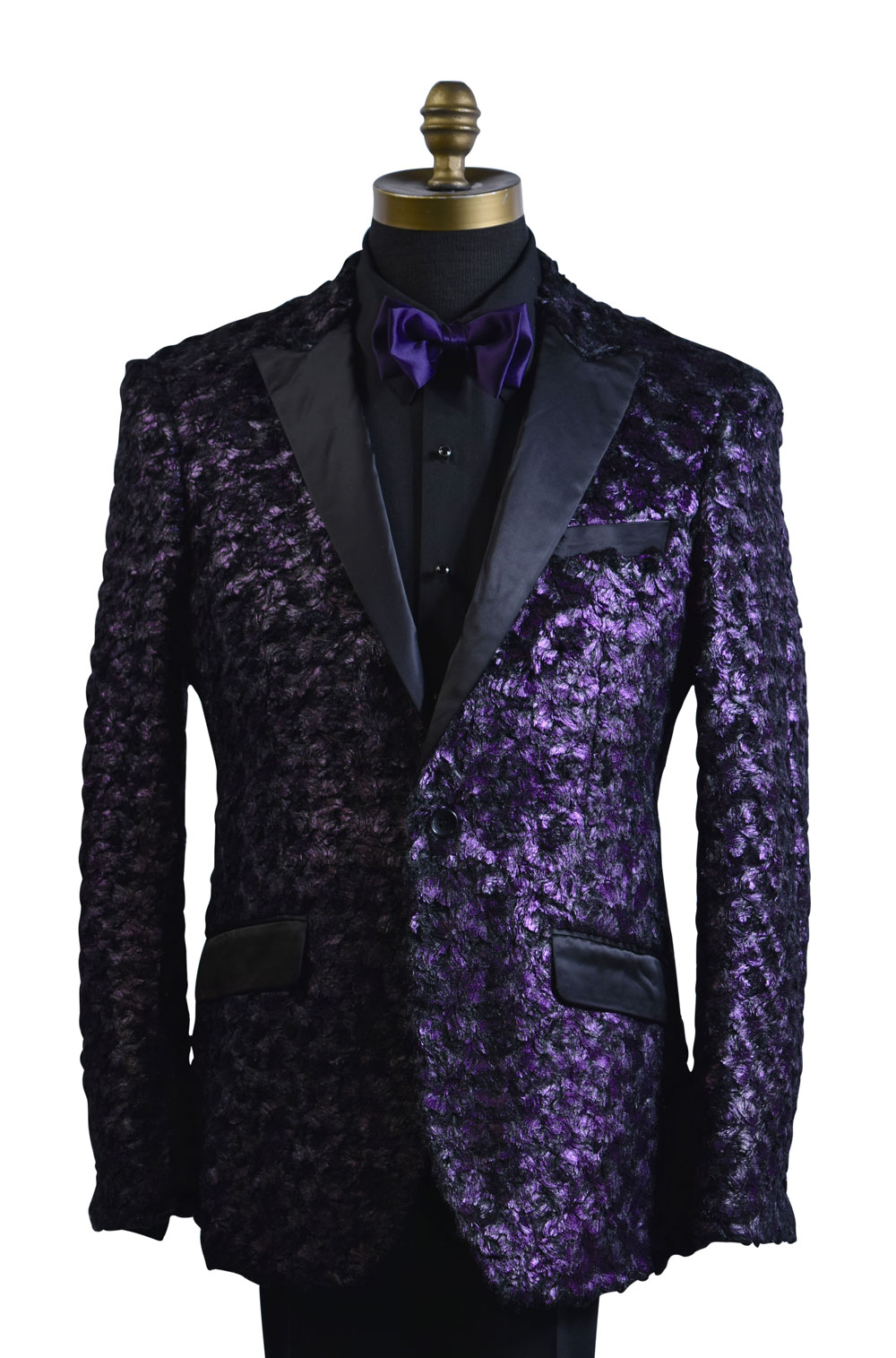 Purple Rain Tuxedo Coat Only