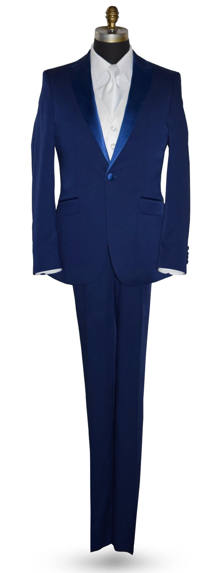 PERSIAN BLUE TUXEDO COAT AND PANTS SET