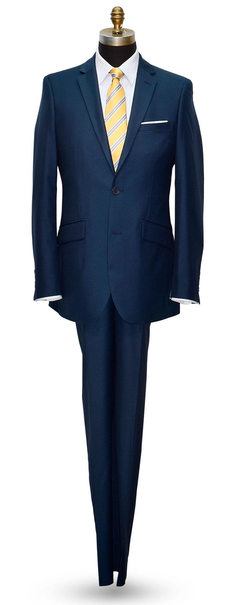 Aqua Marine Blue Mens 2 Piece Slim Fit Suit