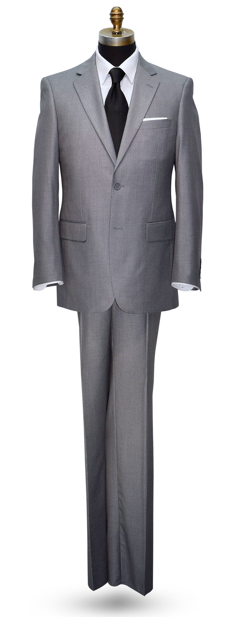 Heather Gray Mens Suit - Coat and Pants