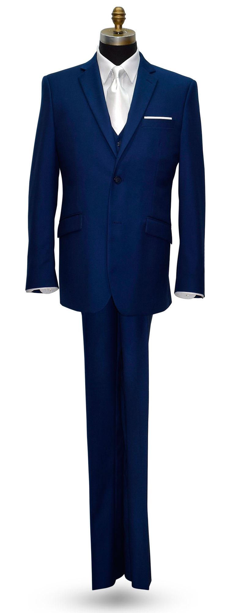 Indigo Blue Men's Sim Fit Suit-Coat and Pants. Vest is Optional