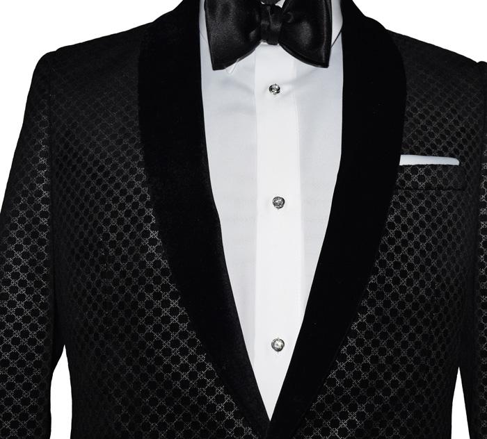 Black Velvet Shawl Collar Tuxedo Jacket Only