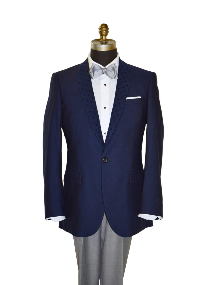 Navy Blue Shawl Collar Tuxedo Jacket Only