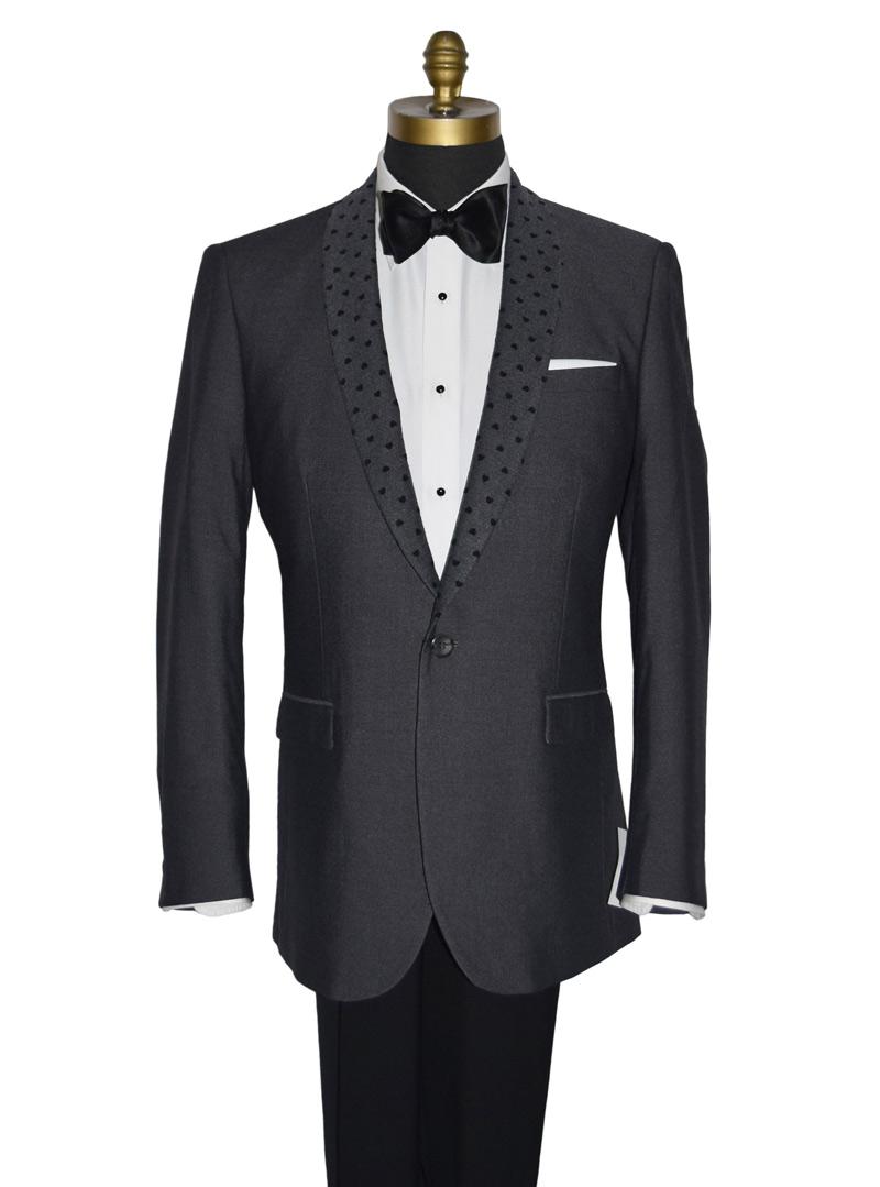 Charcoal Gray Shawl Collar Tuxedo Jacket Only