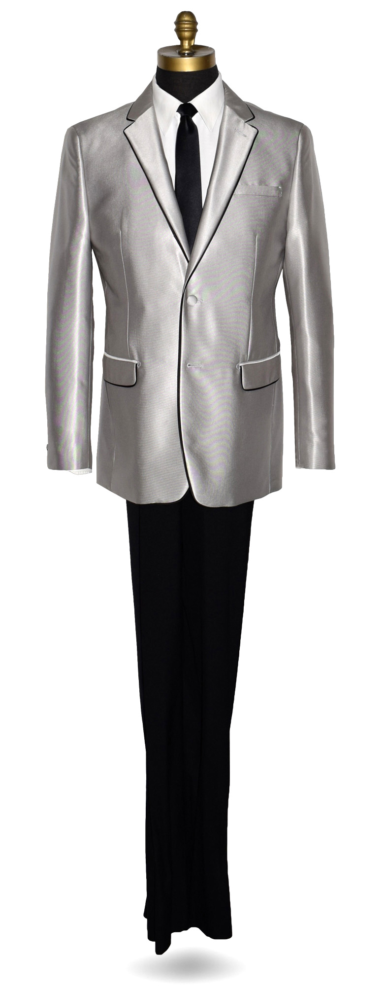 PLATINUM TUXEDO-SUIT COAT AND PANTS SET ONLY