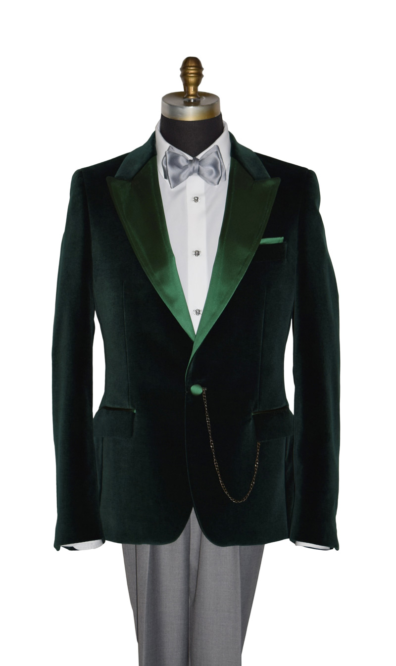 Vetiver Green Velvet Coat Only-Top of the Line