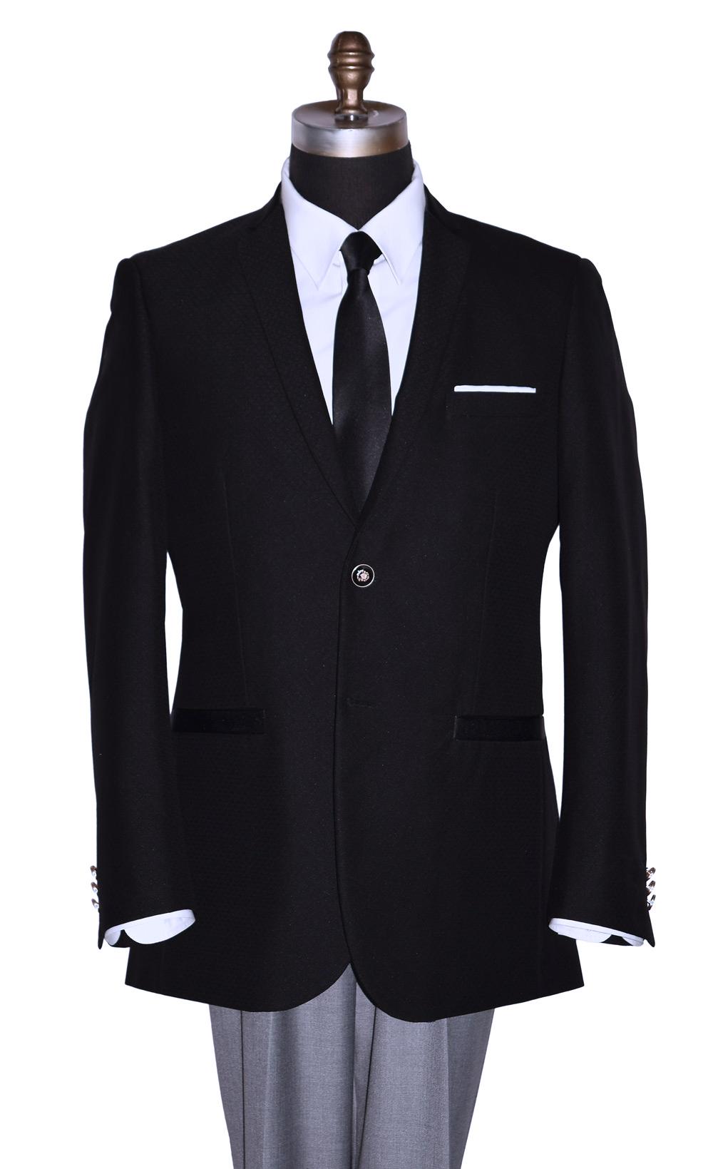 Black Sports Coat With Subtle Texture