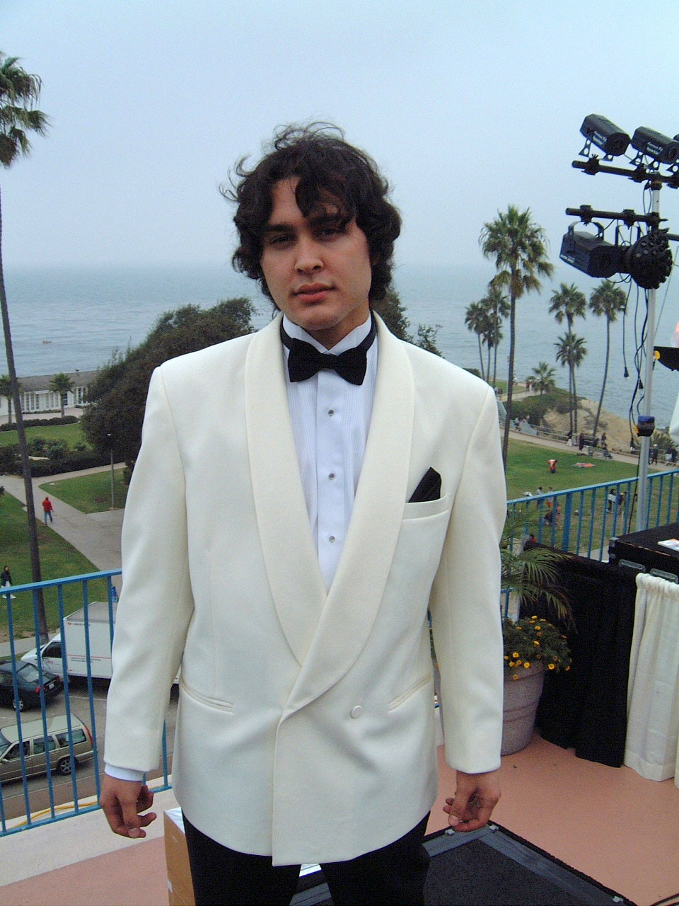Ivory Shawl Collar DB Tuxedo Jacket Only