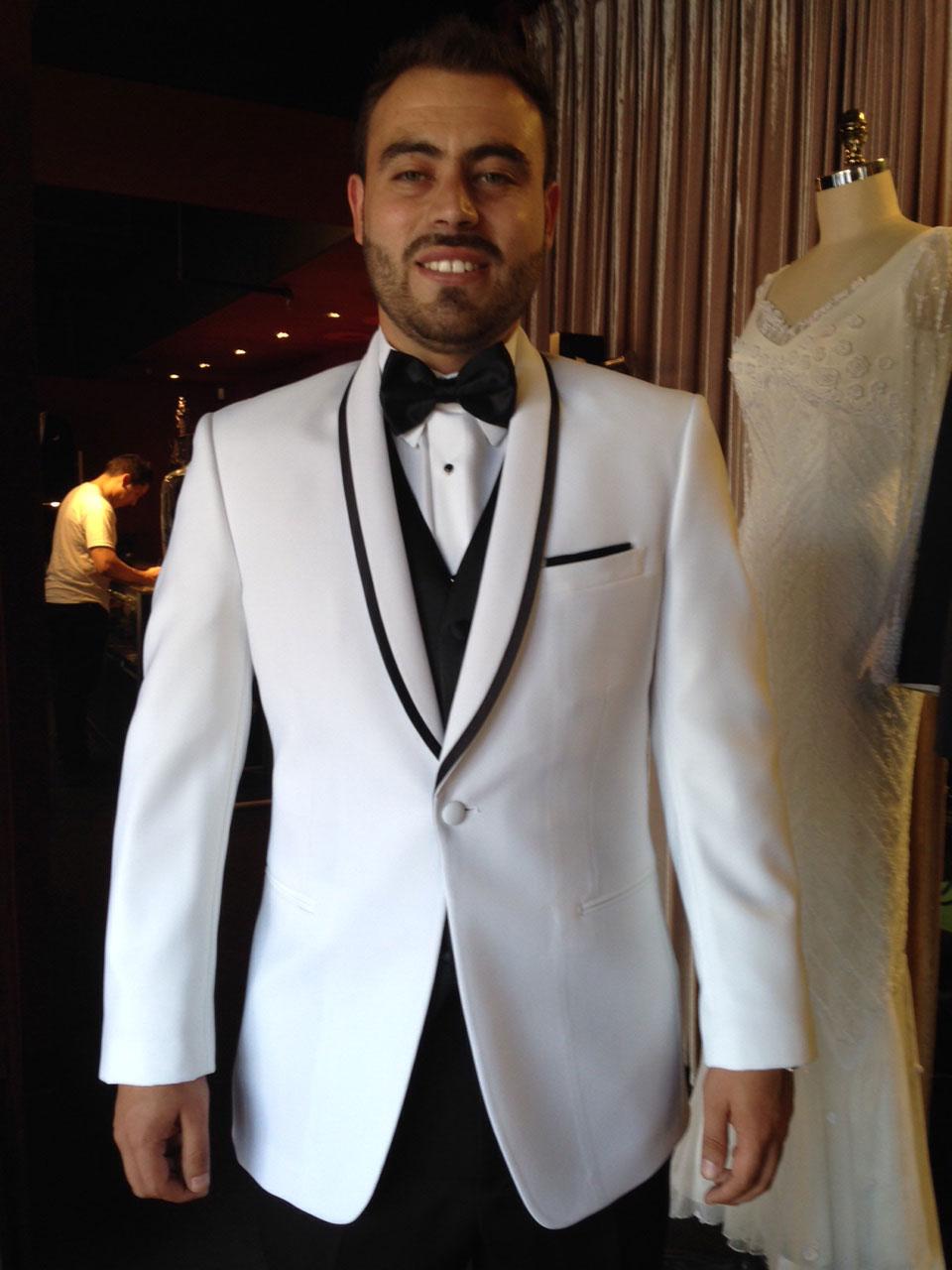White Shawl Collar Tuxedo w/Black Jacket Only
