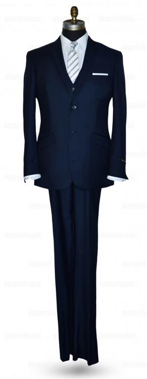 Navy Blue Slim Fit Suit 3 Piece