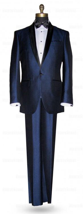 Ink Blue Shawl Collar Tuxedo with Pants Ensemble