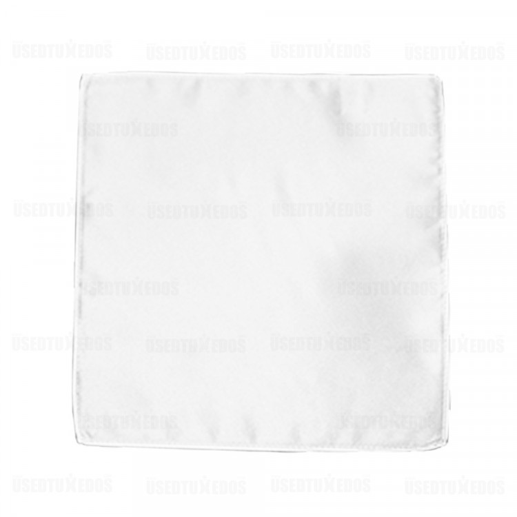 white pocket handkerchief by San Miguel Formals