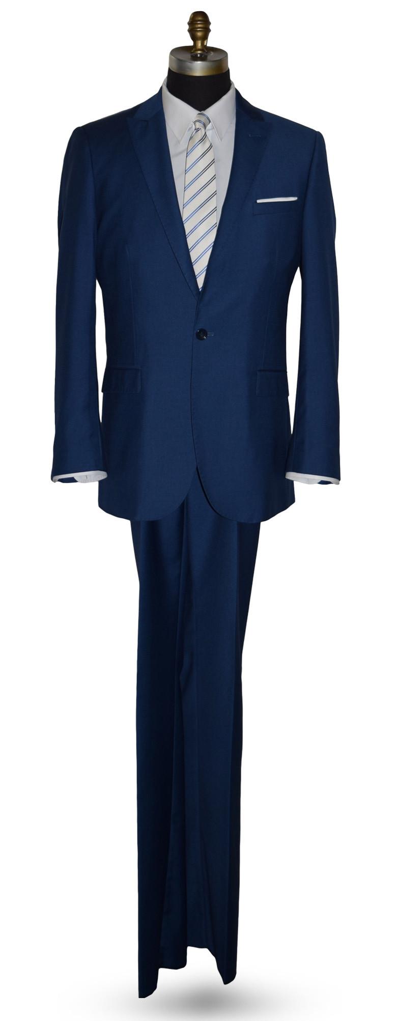 Azure Blue Suit Coat and Pants Set - Ensemble