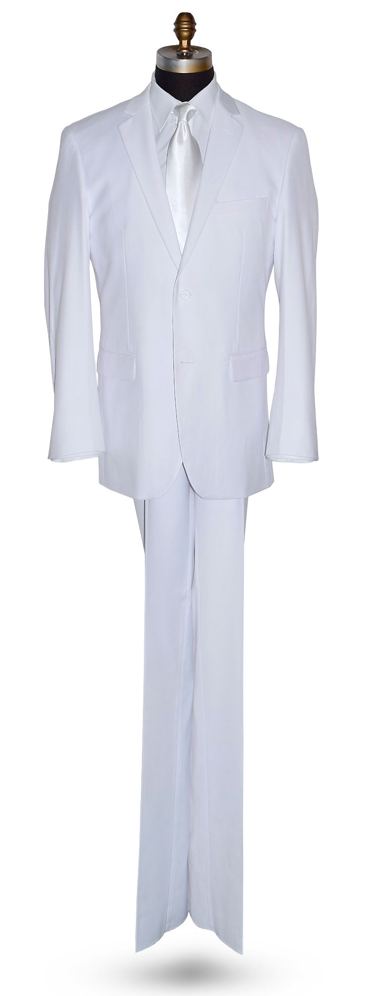 White 3 Piece Men's Suit -Coat, Pants and Vest