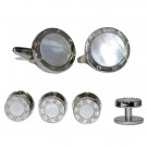 Mother-of-Pearl Cufflink and Stud Set