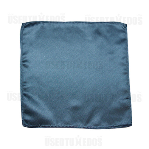 serene blue pocket handkerchief by San Miguel Formals