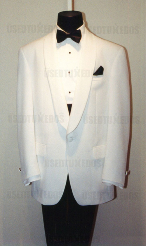 White Shawl Collar Dinner Jacket