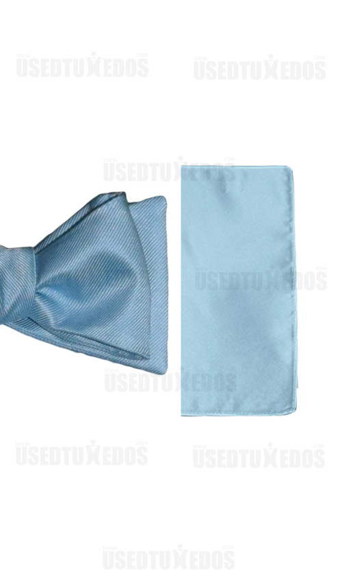 capri blue pocket handkerchief by San Miguel Formals
