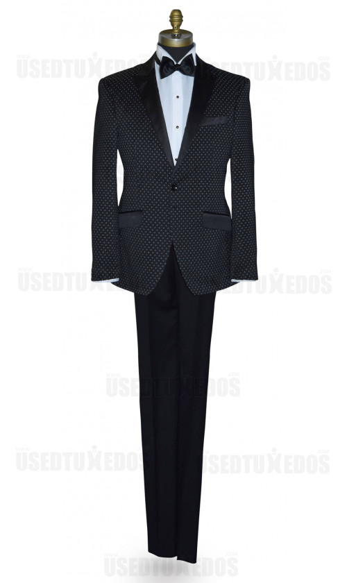 Black Tuxedo with White Pin Dot Ensemble