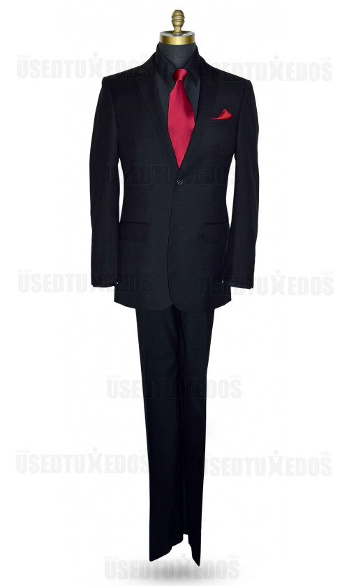 Black Suit Ensemble-Cashmere and Super Fine Wool