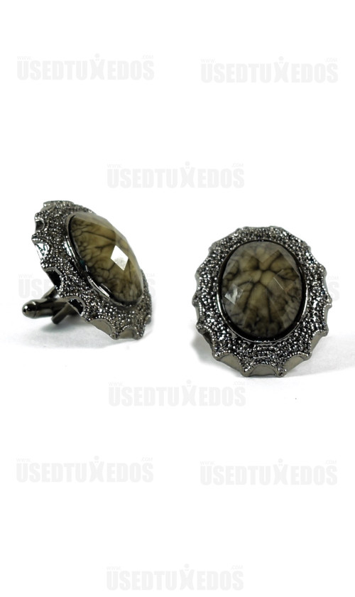 STONE COLOR BLING CUFFLINKS
