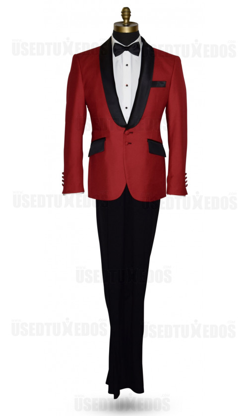 ROYAL RED TUXEDO ENSEMBLE