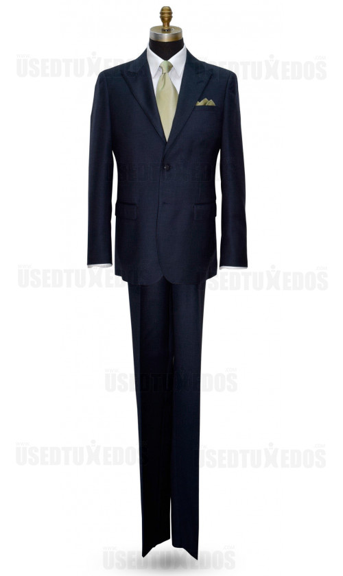 VERSACE BLUE SHARKSKIN MENS SUIT