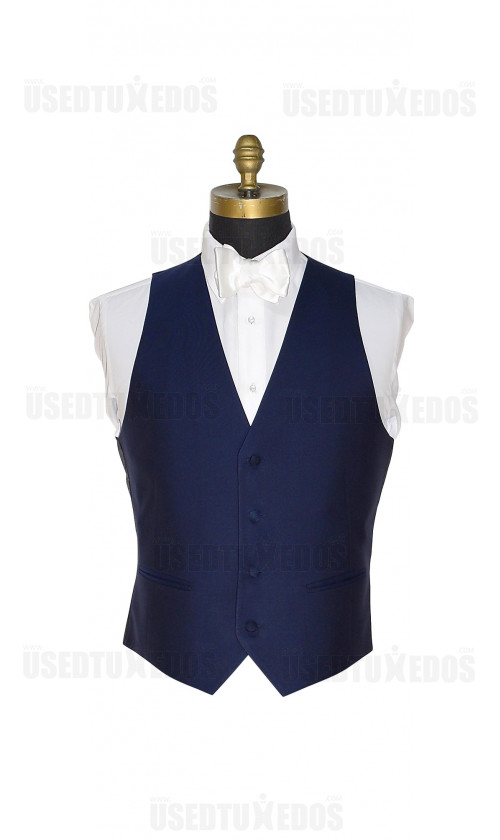 NAVY BLUE SUPER 120's VEST