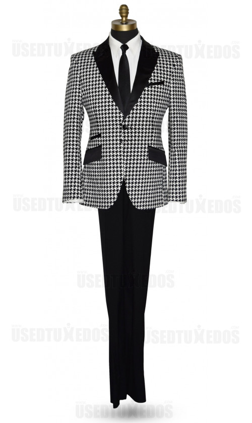 Black with White Check Tuxedo Ensamble