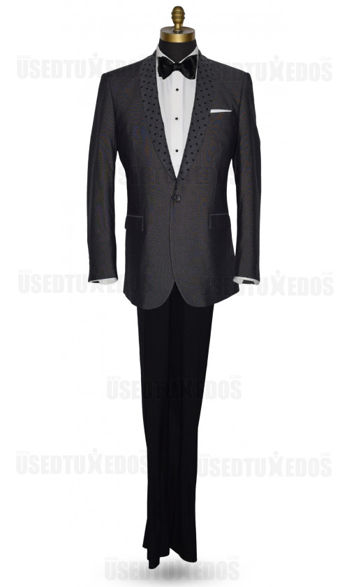 Charcoal Gray Shawl Collar Dinner Jacket
