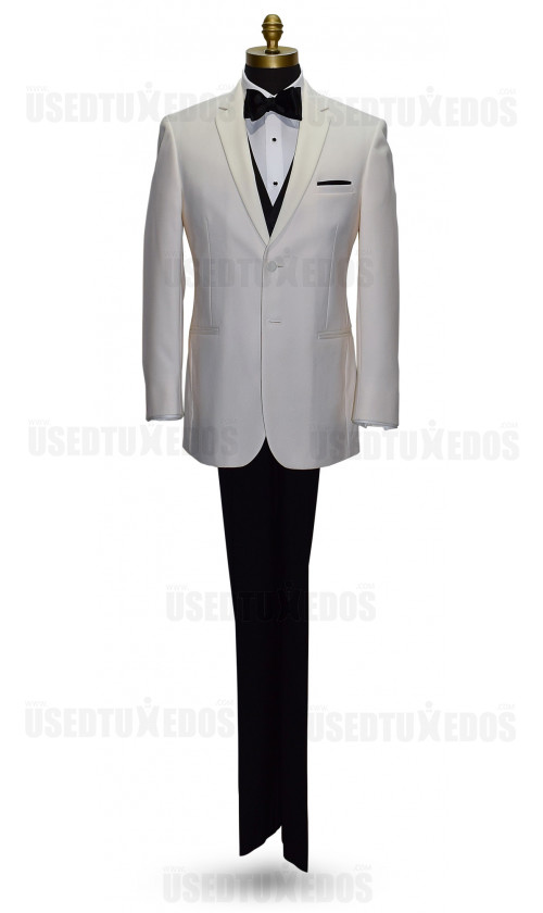 OFF WHITE NOTCH LAPEL TUXEDO ENSEMBLE